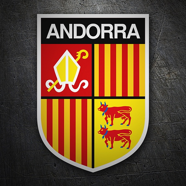 Car & Motorbike Stickers: Badge Andorra