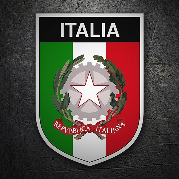 Car & Motorbike Stickers: Badge Italy