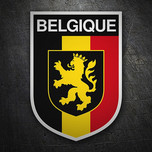 Car & Motorbike Stickers: Badge Belgium
