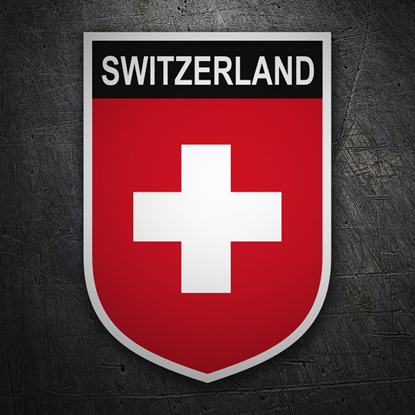 Car & Motorbike Stickers: Badge Switzerland