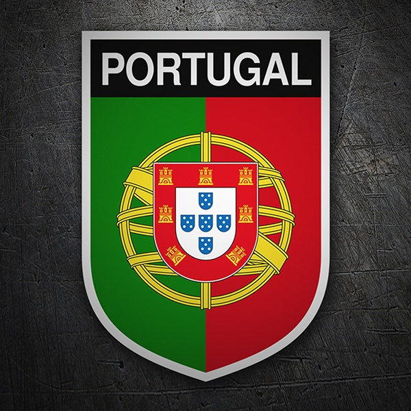Car & Motorbike Stickers: Badge Portugal