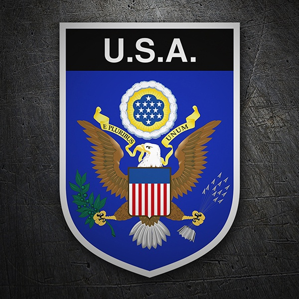 Car & Motorbike Stickers: Badge USA