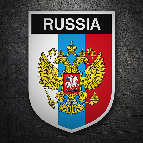 Car & Motorbike Stickers: Badge Russia