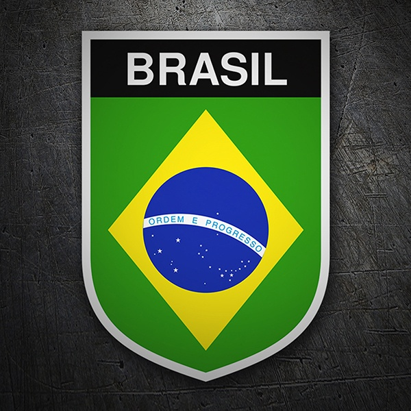 Car & Motorbike Stickers: Badge Brazil