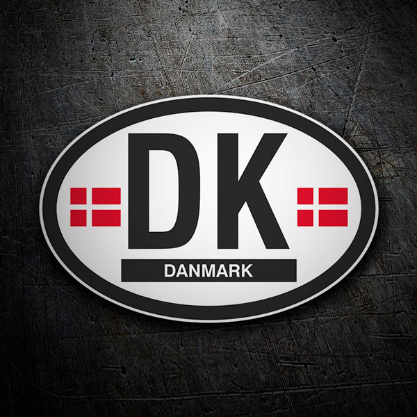 Car & Motorbike Stickers: Denmark