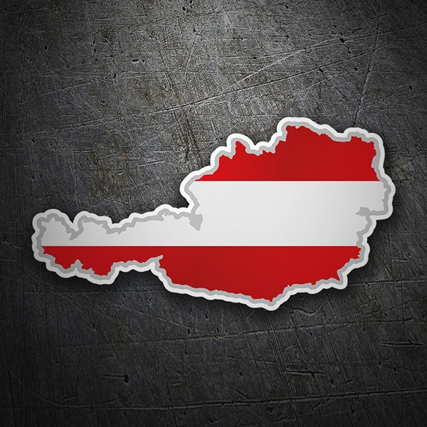 Car & Motorbike Stickers: Flag map Austria