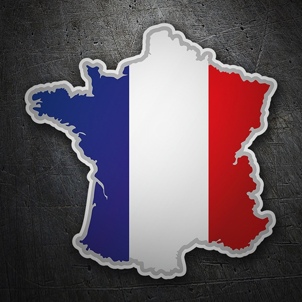 Car & Motorbike Stickers: Flag map France