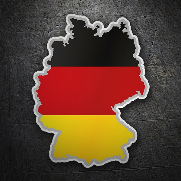 Car & Motorbike Stickers: Flag map Germany