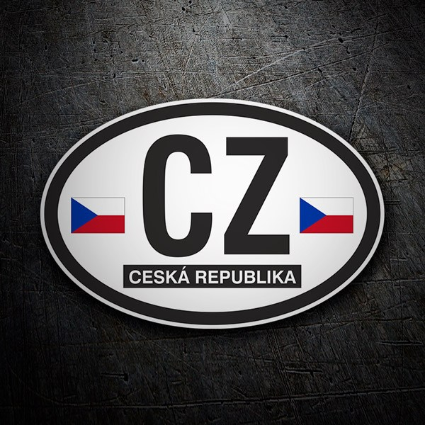 Car & Motorbike Stickers: Ceská Republica