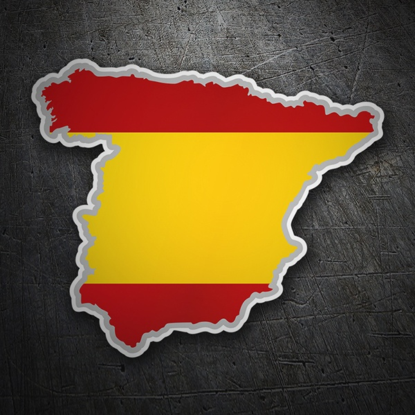 Car & Motorbike Stickers: Flag map Spain