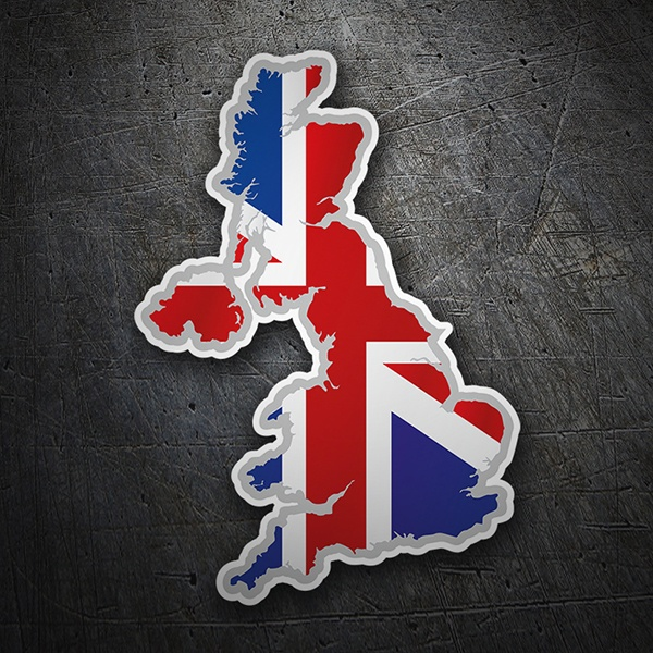 Car & Motorbike Stickers: Flag map United Kingdom Union Jack