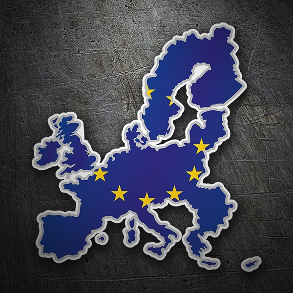 Car & Motorbike Stickers: Flag map European Union
