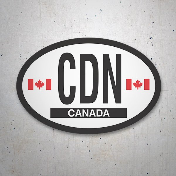 Car & Motorbike Stickers: Canada
