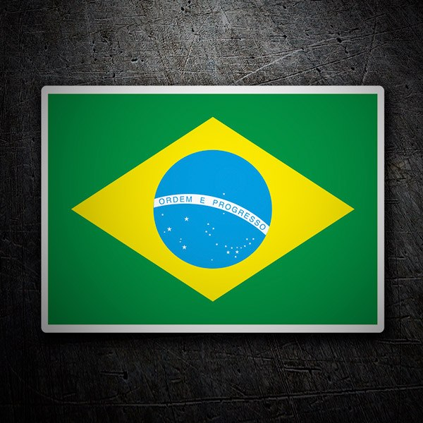Car & Motorbike Stickers: Flag Brazil
