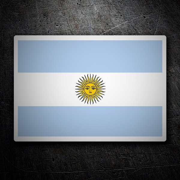 Car & Motorbike Stickers: Flag Argentina