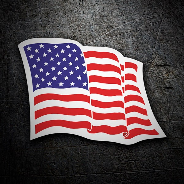 Car & Motorbike Stickers: USA