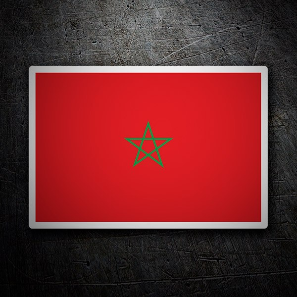 Car & Motorbike Stickers: Flag Morocco