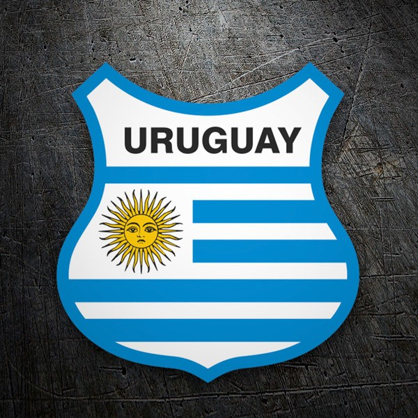 Car & Motorbike Stickers: Shield of the flag of Uruguay