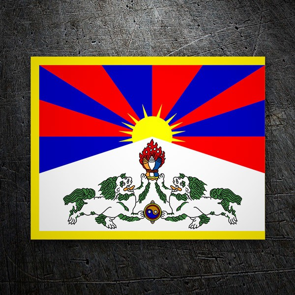 Car & Motorbike Stickers: Tibet Flag