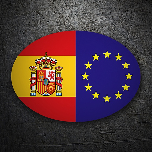 Car & Motorbike Stickers: Europe Spain