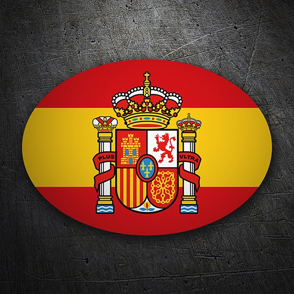 Car & Motorbike Stickers: Oval Flag of Spain