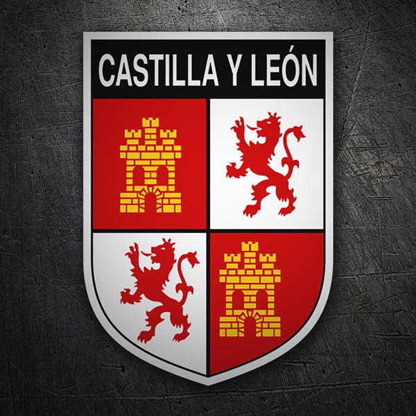 Car & Motorbike Stickers: Badge Castilla y León