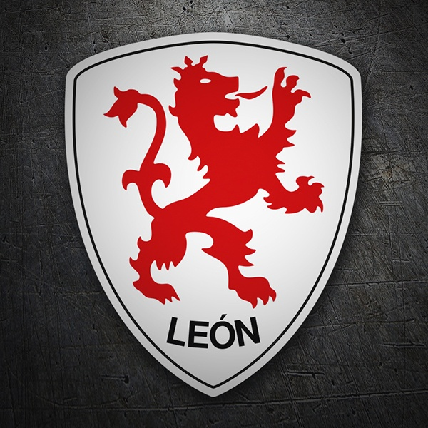 Car & Motorbike Stickers: Badge Leon