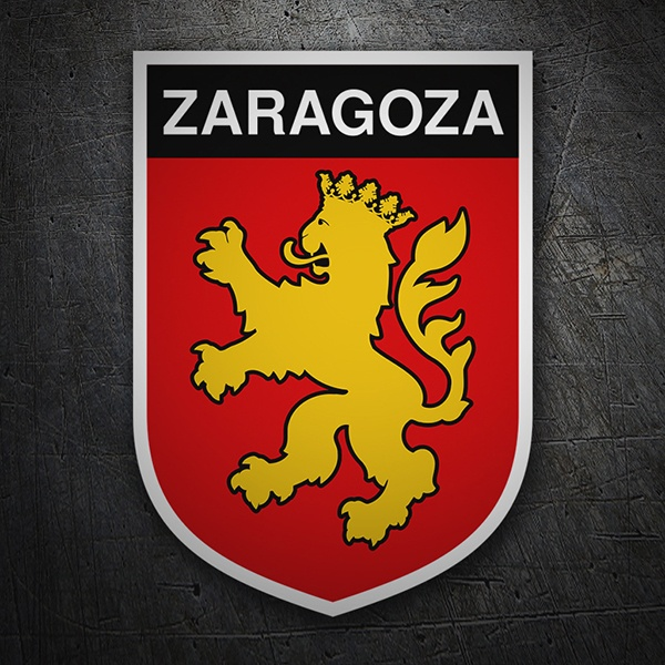 Car & Motorbike Stickers: Badge Saragossa