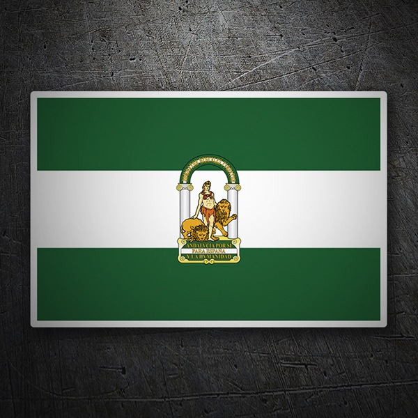 Car & Motorbike Stickers: Flag Andalusia