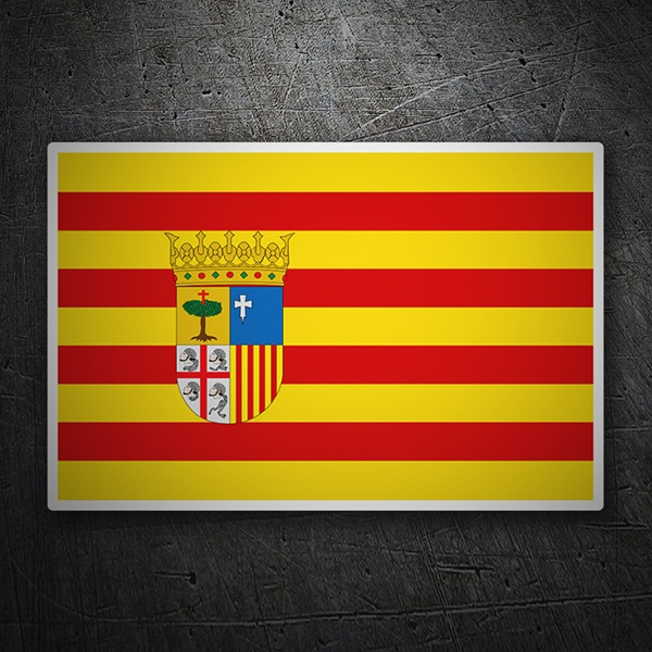 Car & Motorbike Stickers: Flag Aragon