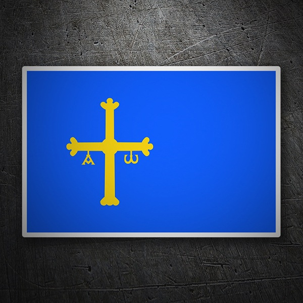 Car & Motorbike Stickers: Flag Asturias