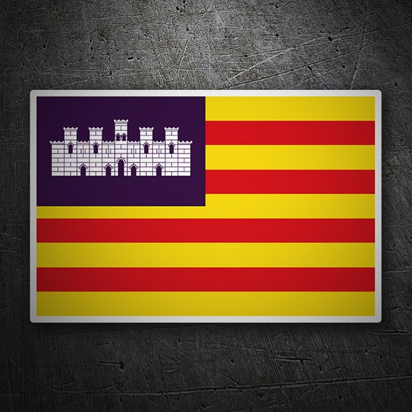 Car & Motorbike Stickers: Flag Balearic islands