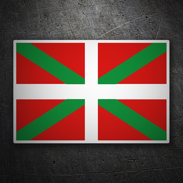 Car & Motorbike Stickers: Flag Euskadi