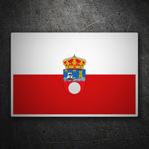 Car & Motorbike Stickers: Flag Cantabria