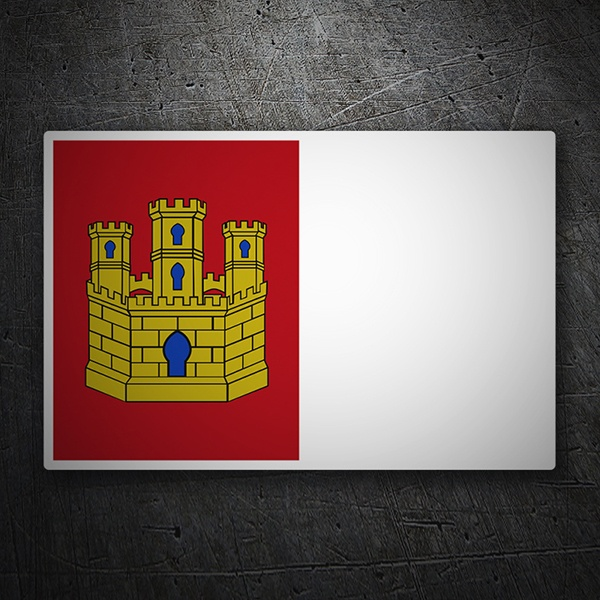 Car & Motorbike Stickers: Flag Castilla La Mancha