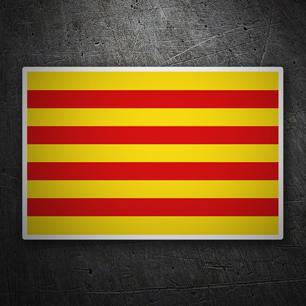 Car & Motorbike Stickers: Flag Catalonia
