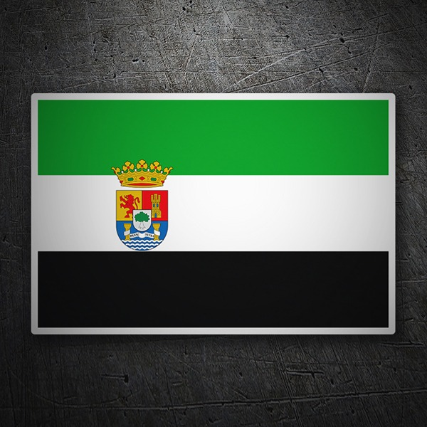 Car & Motorbike Stickers: Flag Extremadura