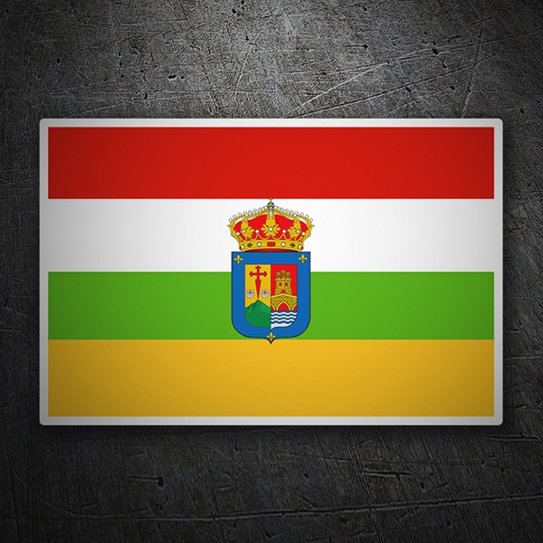 Car & Motorbike Stickers: Flag La Rioja