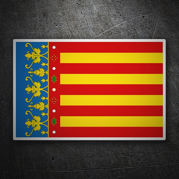 Car & Motorbike Stickers: Flag Valencia