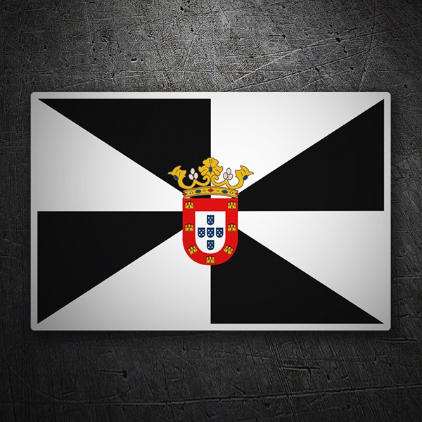 Car & Motorbike Stickers: Flag Ceuta