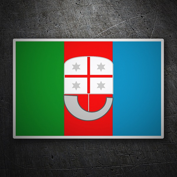 Car & Motorbike Stickers: Flag Liguria
