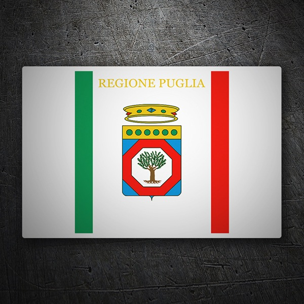 Car & Motorbike Stickers: Flag Apulia