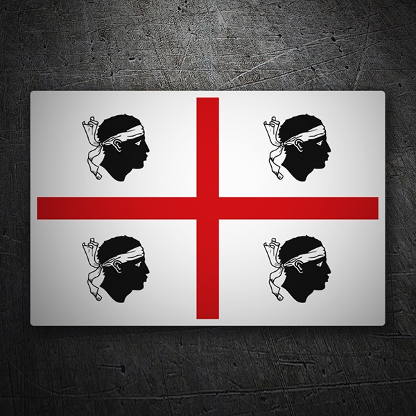 Car & Motorbike Stickers: Flag Sardinia