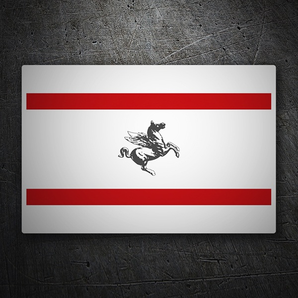 Car & Motorbike Stickers: Flag Tuscany