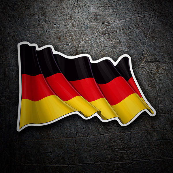 Car & Motorbike Stickers: German flag waving