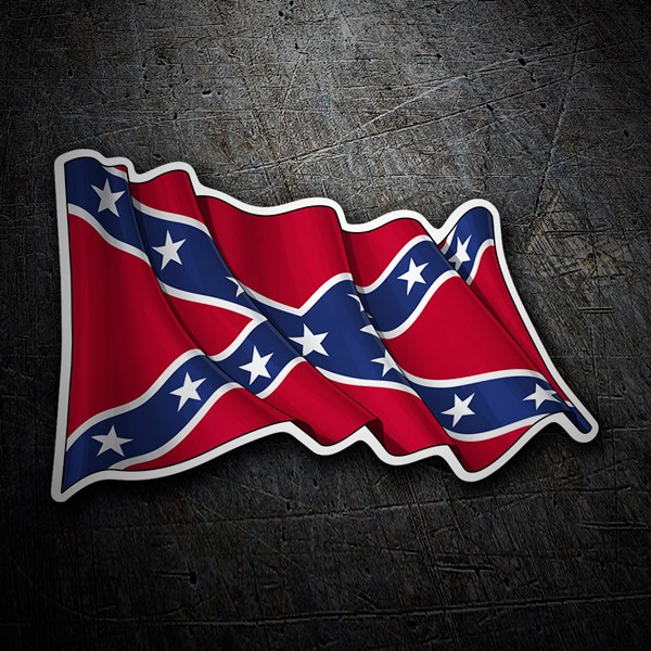 Car and Motorbike Stickers: Rebel Confederate Flag