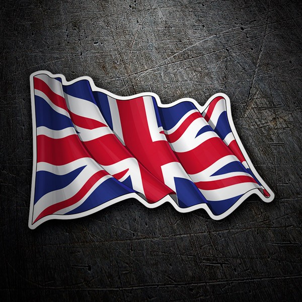 Car & Motorbike Stickers: United Kingdom flag waving
