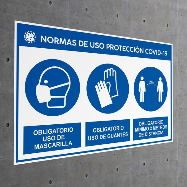 Car & Motorbike Stickers: Rules of use protection covid-19