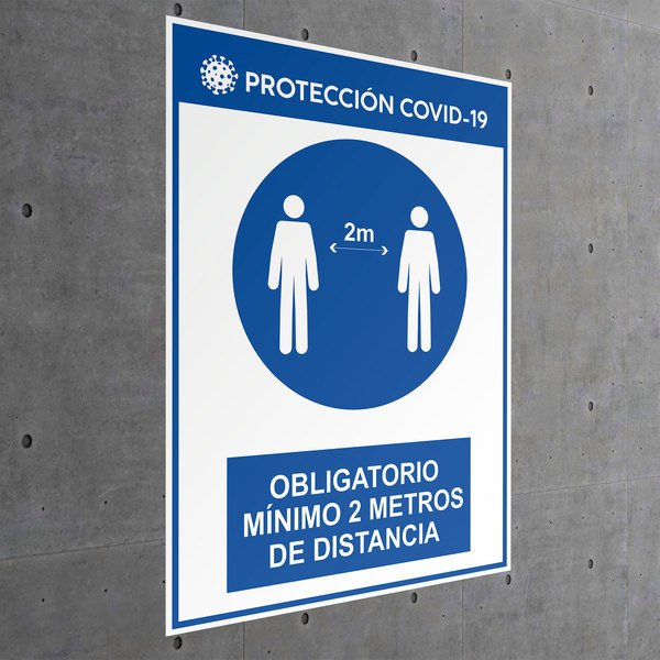 Car & Motorbike Stickers: Protection covid19 distance 2 meters