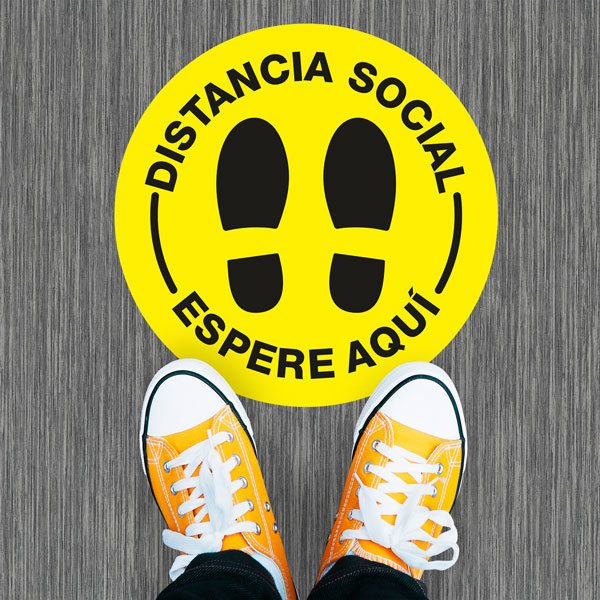 Car & Motorbike Stickers: Social Distance Sticker in Spanish